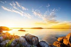 Beautiful sunset on the lake Royalty Free Stock Image