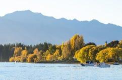 Beautiful sunset in the Lake Wanaka,New Zealand. Royalty Free Stock Photos