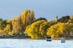 Beautiful sunset in the Lake Wanaka,New Zealand. Stock Photo