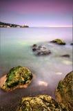 Beautiful sunset landscape in Crimea. Black sea Stock Photo