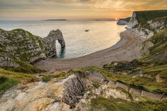 Beautiful sunset landscape image of Durdle Door Royalty Free Stock Image