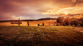 Beautiful sunset landscape Stock Photo