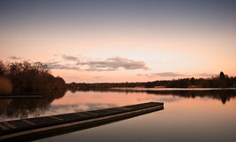 Beautiful sunset landscape over lake Royalty Free Stock Image