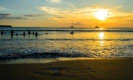 Beautiful sunset at Layan beach, Phuket in Thailand Stock Photography