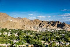 Beautiful sunset in leh city, view from shanti stupa. Ladakh,India Stock Images