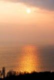 Beautiful sunset light Stock Photo