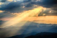 Beautiful Sunset and light beam Royalty Free Stock Image