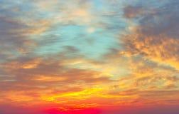 Beautiful sunset, light majestic clouds Stock Photos