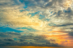Beautiful sunset, light majestic clouds Royalty Free Stock Photos