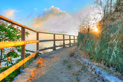 Beautiful sunset Ligurian landscape Royalty Free Stock Photo