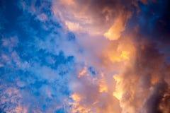 Beautiful sunset сlouds Stock Photos