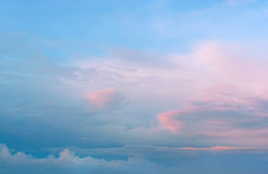 Beautiful sunset, majestic clouds. Stock Images