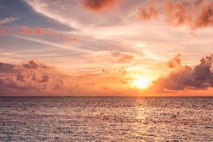 Beautiful sunset in Maldives Royalty Free Stock Images