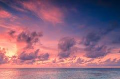 Beautiful Sunset in Maldives Royalty Free Stock Photos