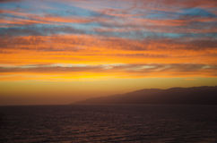Beautiful sunset in Malibu Stock Photo