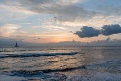 Beautiful sunset on Maui stock image