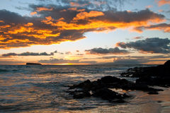 Beautiful sunset on Maui Island Hawaii Royalty Free Stock Images