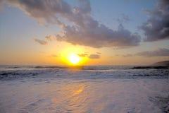 Beautiful sunset on the Mediterranean coast Royalty Free Stock Photos