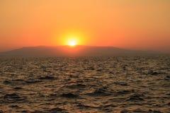 Beautiful sunset on Mediterrian sea in Antalya Royalty Free Stock Photos
