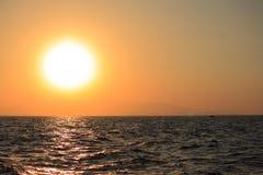 Beautiful sunset on Mediterrian sea in Antalya Stock Photos