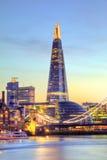 Beautiful sunset of modern part of city London, England Stock Photography