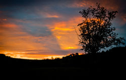 Beautiful sunset. Beautiful moment at sunset in small village Royalty Free Stock Photography