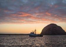 Beautiful sunset, Morro Bay Royalty Free Stock Image
