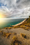 Beautiful sunset. Mountain view. Seascape Royalty Free Stock Photos