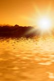 Beautiful sunset in mountains Royalty Free Stock Images