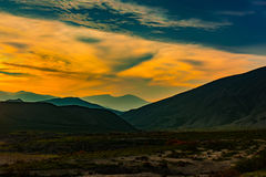 Beautiful sunset in mountains Royalty Free Stock Image
