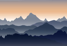 Beautiful sunset in the mountains. Royalty Free Stock Photo
