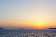 Beautiful sunset in Mykonos.Greece Stock Photo