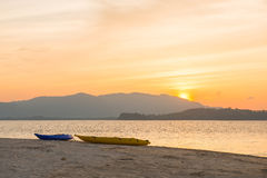 Beautiful sunset at Naka Noi Island Phuket, Thailand Royalty Free Stock Image