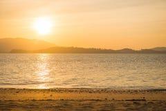Beautiful sunset at Naka Noi Island Phuket, Thailand Stock Photo