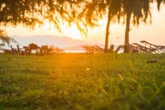 Beautiful sunset at Naka Noi Island Phuket, Thailand Stock Images