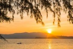 Beautiful sunset at Naka Noi Island Phuket, Thailand Royalty Free Stock Photo