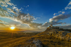 Beautiful sunset near ancient fortress Royalty Free Stock Image