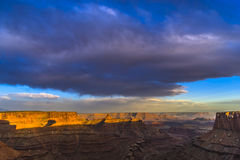 Beautiful Sunset near the Marlboro Point Canyonlands Utah Stock Photography