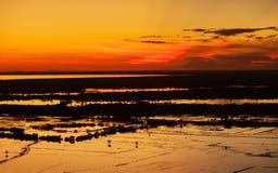 Beautiful sunset near siem reap cambodia Royalty Free Stock Image