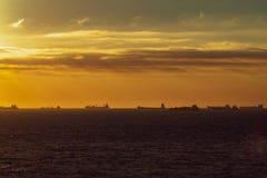 Sunset northsea royalty free stock photos