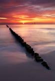 Beautiful sunset in ocean Stock Photo