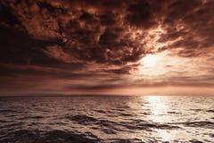 Free Beautiful Sunset On The Ocean Sea Royalty Free Stock Photos - 125282778