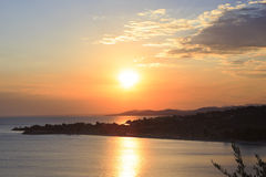 Beautiful sunset over the Aegean Sea. Stock Photography