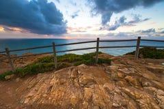 Beautiful sunset over Atlantic Ocean Stock Photography
