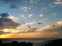 Beautiful sunset over the Atlantic Ocean Stock Photography