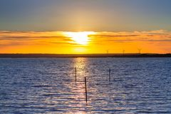 Beautiful sunset over the Balitc sea. In Sweden Royalty Free Stock Photography
