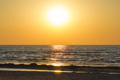 Beautiful Sunset over Baltic Sea Stock Images