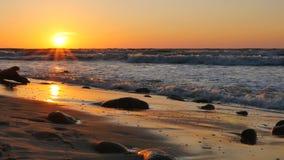 Beautiful sunset stock video