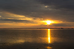 Beautiful sunset over Baltic sea. At island Oland, Sweden Royalty Free Stock Photo