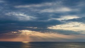 Beautiful sunset over Baltic sea in summer, Poland stock video